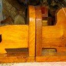 Vtg 30's Handcarved Wooden Dachshound Bookends!