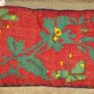 """Antique RARE C1850 Wool Handmade Pillow 28"""" x 14"""""""
