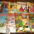 11 Vintage Work Basket Magazines, 1975 Crafts Etc