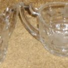 Rare Early Pattern Glass Sugar Bowl & Creamer