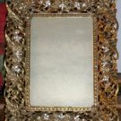 FAB Vintage Picture Frame w/Rhinestones & Pearls