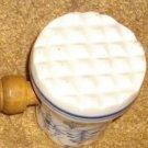 Antique German Blue Onion Porcelain Wooden Handled Meat Tenderizer