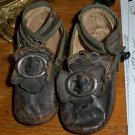 """Antique C1870 Leather Doll Shoes 4 1/4"""" long 1 3/4"""" wide"""