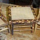 Antique Toy Doll Faux Bamboo French Table Set