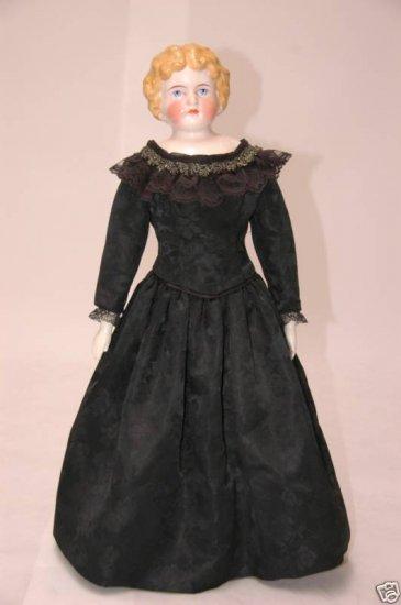 """C1890 Alt Beck Gottschalck China Doll, 22"""" tall"""
