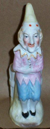 Antique C1885 Victorian Clown or Jester Porcelain Matchsafe