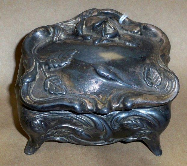 Antique C1885 Art Nouveau Jewelry Caster, Possibly Pewter