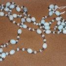 "Extra Long Antique 20's Flapper Era 36"" Moonstone Strand Beads"