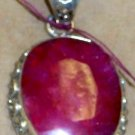 Fabulous 90 Carat Primitive Natural Ruby Set in Sterling
