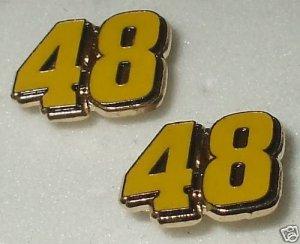EARRINGS POST STUD #48 JIMMIE JOHNSON NASCAR JEWELRY