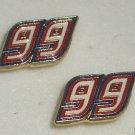 EARRINGS POST STUD #99 CARL EDWARDS NASCAR JEWELRY RED