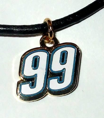 CHARM NECKLACE #99 CARL EDWARDS NASCAR RACING JEWELRY