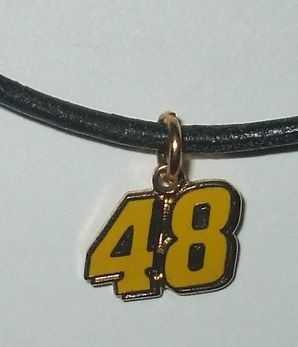 CHARM NECKLACE#48 JIMMIE JOHNSON NASCAR RACING JEWELRY