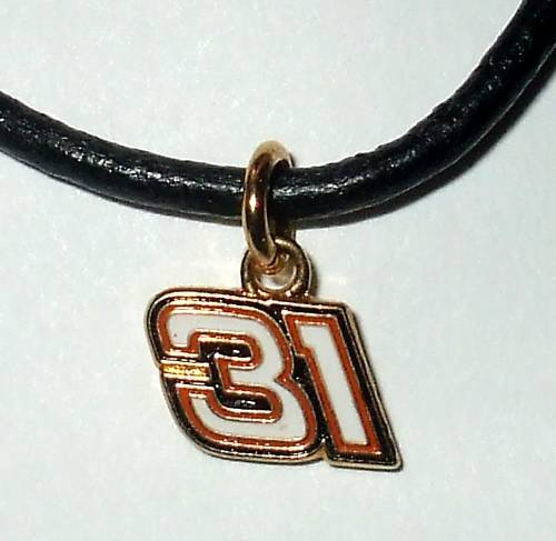 CHARM NECKLACE #31 JEFF BURTON NASCAR RACING JEWELRY