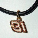 CHARM NECKLACE #31 JEFF BURTON NASCAR RACING JEWELRY