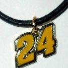 CHARM NECKLACE #24 JEFF GORDON NASCAR RACING JEWELRY