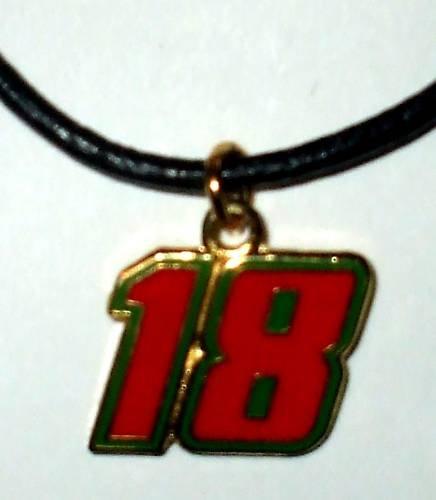 CHARM NECKLACE #18 KYLE BUSCH NASCAR RACING JEWELRY