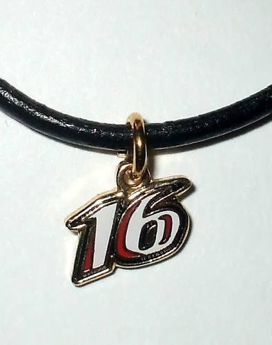 CHARM NECKLACE #16 GREG BIFFLE NASCAR RACING JEWELRY