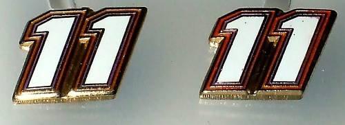 EARRINGS POST #11 DENNY HAMLIN NASCAR RACING JEWELRY