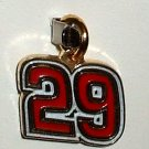 CHARM #29 KEVIN HARVICK NASCAR AUTO RACING RACE JEWELRY
