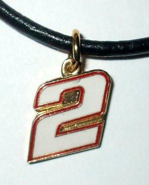 CHARM NECKLACE #2 NASCAR AUTO RACING RACE JEWELRY