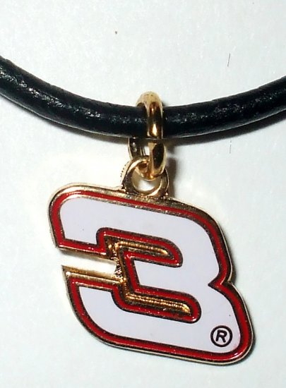 CHARM NECKLACE #3 DALE EARNHARDT NASCAR RACING JEWELRY