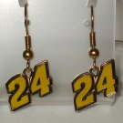 EARRINGS DANGLE #24 JEFF GORDON NASCAR RACING JEWELRY