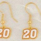 EARRINGS DANGLE #20 JOEY LOGANO NASCAR RACING JEWERLY
