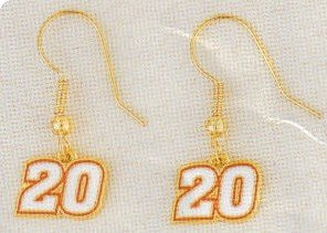 EARRINGS DANGLE #20 JOEY LOGANO NASCAR RACING JEWERLY