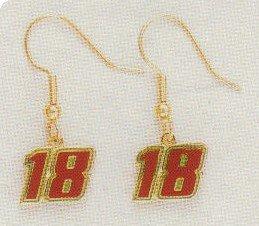 EARRINGS DANGLE #18 KYLE BUSCH NASCAR RACING JEWELRY