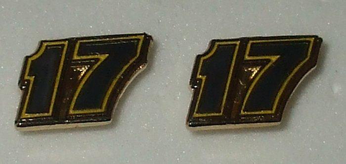 EARRINGS POST #17 MATT KENSETH NASCAR RACING JEWELRY