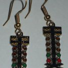 NHRA STAGING LIGHT DRAG CHRISTMAS TREE CHARM AUTO RACING EARRINGS BODY JEWELRY