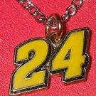 CHARM CHAIN NECKLACE #24 JEFF GORDON NASCAR AUTO RACING RACE DAY BODY JEWELRY