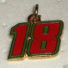 CHARM #18 KYLE BUSCH NASCAR SPRINT CUP NATIONWIDE AUTO RACING RACE JEWELRY