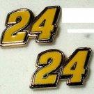 POST STUD EARRINGS #24 JEFF GORDON NASCAR SPRINT CUP AUTO RACING RACE JEWELRY