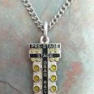 CHARM CHAIN NECKLACE CHRISTMAS DRAG TREE STAGING LIGHT NHRA AUTO RACING 20 INCH