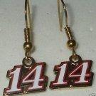 DANGLE EARRINGS #14 TONY STEWART NASCAR SPRINT CUP AUTO RACING RACE JEWELRY