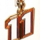 CHARM #11 DENNY HAMLIN NASCAR SPRINT CUP NATIONWIDE AUTO RACING RACE JEWELRY