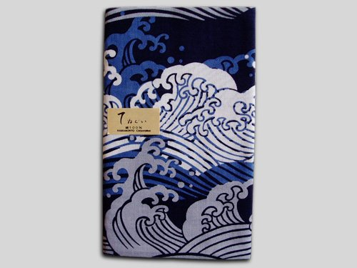 Tenugui Japanese Cotton Towel/ Billows, Big Waves from Japan