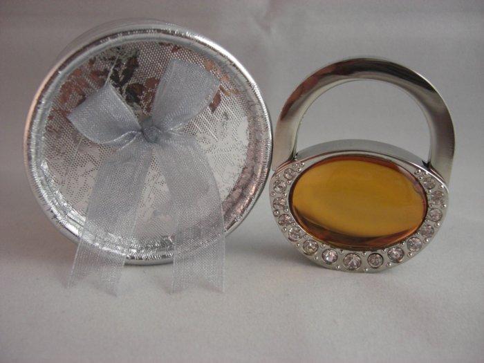 Crystal Stone Handbag Hanger - Gold