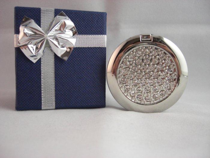 Crystal Stone Handbag Hanger - CZ Stone with Mirror