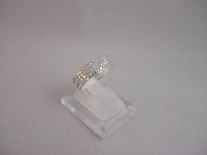 Crystal Shining White Ring (Size 8)