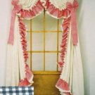 AMY DOUBLE RUFFLED GINGHAM CURTAINS - 100 W x 45 L