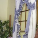 AMY DOUBLE RUFFLED GINGHAM SWAG CURTAINS - 135 W x 84 L