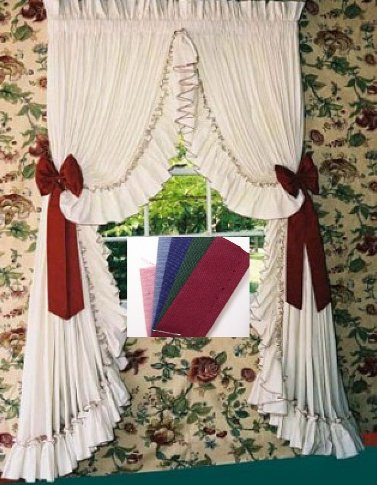 CAROLINA RUFFLED PEARL EDGE CURTAINS