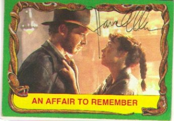 Karen Allen signed vintage Indiana Jones Card
