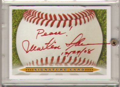 Martin Sheen signed sweet spot card