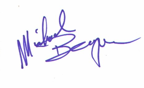 Michael Berryman signed 3x5 #1