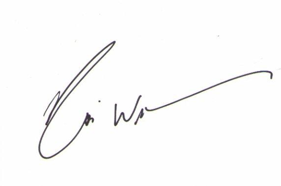 Robin Williams signed 4x6 #2