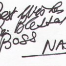Brian Blessed signed 3x5